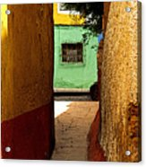 Alley With The Green Casa Acrylic Print