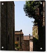 Alleyway In San Gimignano Acrylic Print