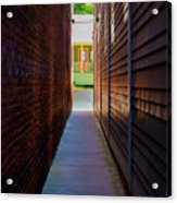 Alleyway To Green Acrylic Print
