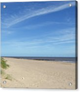 Almost Deserted Beach At Skegness Acrylic Print