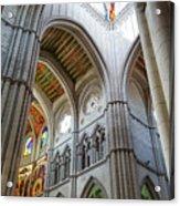 Almudena Cathedral Interior In Madrid Acrylic Print