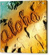 Aloha In The Sand Acrylic Print