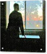 Alone Acrylic Print by Guy Ricketts