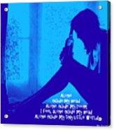 Alone In Blue Acrylic Print