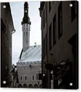 Alone In Tallinn Acrylic Print by Dave Bowman