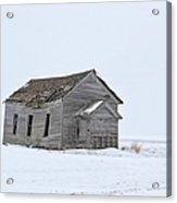 Alone In The Snow Acrylic Print