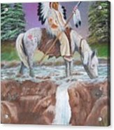 Alone With The Great Spirit Acrylic Print by Janna Columbus