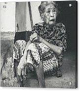 Balinese Old Woman Acrylic Print