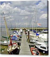 Along C Pontoon In Ryde Harbour Acrylic Print