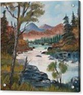 Along Canyon Drive Paradise Montana Acrylic Print