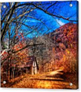 Along The Country Lane Acrylic Print