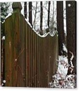 Along The Fence Acrylic Print