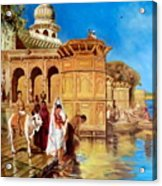 Along The Ghats, Mathura After Edwin Lord Weeks Acrylic Print