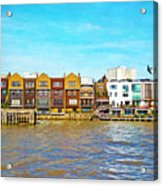 Along The River Thames Acrylic Print