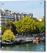 Along The Seine Acrylic Print