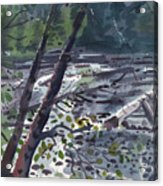 Along The White River Acrylic Print