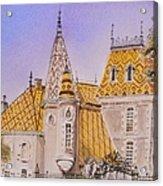 Aloxe Corton Chateau Jaune Acrylic Print