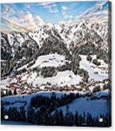 Alpbach Winter Landscape Acrylic Print