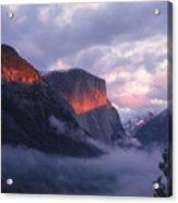 Alpen Glow On El Capitan Acrylic Print