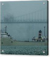 Alpena In The Fog Acrylic Print