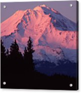 Alpenglow - Mt Shasta Acrylic Print