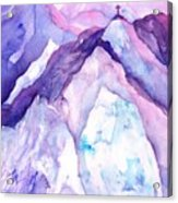 Alpenglow In The Alps Acrylic Print