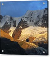 Alpenglow On The Swiss Alps Near Murren Acrylic Print