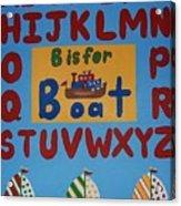 Alphabet Boat Acrylic Print
