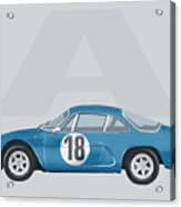 Alpine A110 Acrylic Print by TortureLord Art