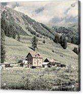 Alpine Farm Acrylic Print