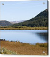 Alpine Lake In The Arapahoe National Forest Acrylic Print