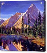 Alpine Lake Mist Acrylic Print