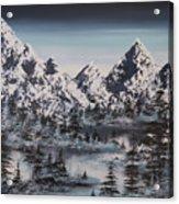 Alpine Peaks Acrylic Print