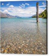 Alpine Scenery From Dart River Bed In Kinloch, New Zealand Acrylic Print