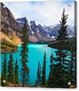 Alpine Scenic Moraine Lake Alberta Canada Acrylic Print