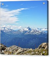 Alpine View In Canada Acrylic Print