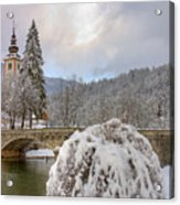 Alpine Winter Beauty Acrylic Print