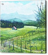 Alps From Geneva Switzerland 2016 Acrylic Print