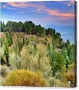 Alpujarras Forest At Sunset Acrylic Print