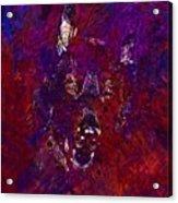 Alsatian Black Eyes German Shepherd  Acrylic Print