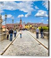 Alte Mainbrucke In The Historic City Of Wurzburg Acrylic Print