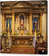 Alter Of The Mission San Buenaventura Acrylic Print