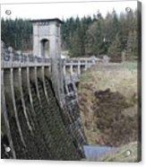 Alwen Reservoir Dam Acrylic Print