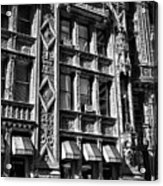 Alwyn Court Building Detail 14 Acrylic Print by Val Black Russian Tourchin
