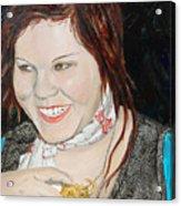 Alyssa Smiles Acrylic Print