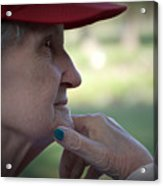 Alzheimer's The Aging Of A Lady Acrylic Print