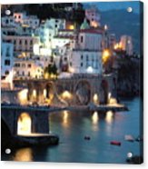 Amalfi Coast At Night Acrylic Print