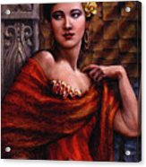 Amarillo Rose Acrylic Print by Jane Bucci
