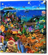 Amazing Coral Reef Acrylic Print
