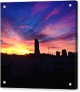Amazing London Sunset Acrylic Print